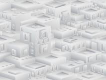 Teste padrão sem emenda isométrico ao estilo do cubismo Fotografia de Stock Royalty Free