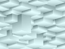 Teste padrão sem emenda isométrico ao estilo do cubismo Fotos de Stock Royalty Free