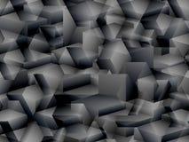 Teste padrão sem emenda isométrico ao estilo do cubismo Foto de Stock