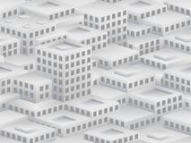 Teste padrão sem emenda isométrico ao estilo do cubismo Foto de Stock Royalty Free