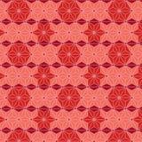 Teste padrão sem emenda isométrico do asanoha japonês vermelho da estrela Fotografia de Stock Royalty Free