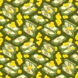 Teste padrão sem emenda isométrico do dinheiro ilustração royalty free