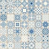 Teste padrão sem emenda lindo mega dos retalhos das telhas marroquinas coloridas, ornamento Pode ser usado para o papel de parede Foto de Stock
