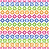 Teste padrão sem emenda liso colorido com ornamento geométrico Fotografia de Stock Royalty Free