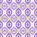 Teste padrão sem emenda liso com ornamento geométrico Fotografia de Stock