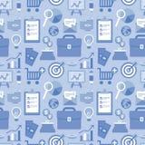 Teste padrão sem emenda liso do vetor com ícones do negócio Imagens de Stock