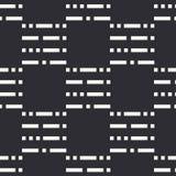 Teste padrão sem emenda liso do vetor da forma abstrata com ponto e linhas da repetição Papel de envolvimento Estilo retro mínimo Imagem de Stock Royalty Free