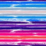 Teste padrão sem emenda listrado colorido com cursos tirados mão da escova Ilustração do vetor para a cópia de matéria têxtil ou  ilustração royalty free