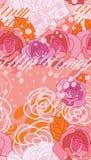 Teste padrão sem emenda longo do estilo do espaço do rosa de Rosa Imagem de Stock