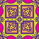 Teste padrão sem emenda mexicano do oblana de Talavera Imagem de Stock Royalty Free