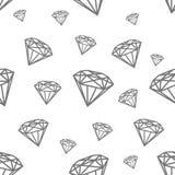 Teste padrão sem emenda moderno com diamantes Enegreça jewerly o teste padrão para a forma moderna, tampa, livros, pano ilustração do vetor