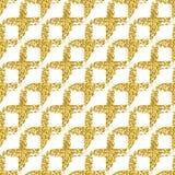 Teste padrão sem emenda moderno com a manta transversal brilhante da escova Cor metálica do ouro no fundo branco textura dourada  fotografia de stock royalty free