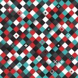 Teste padrão sem emenda moderno com quadrados coloridos Foto de Stock