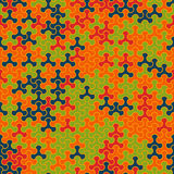 Teste padrão sem emenda moderno do tessellation da geometria do vetor Fotos de Stock Royalty Free