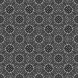 Teste padrão sem emenda monocromático abstrato do fundo 3D rendem o illus ilustração do vetor