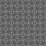 Teste padrão sem emenda monocromático com elementos geométricos Imagem de Stock Royalty Free