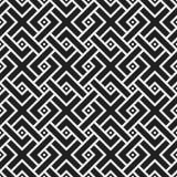 Teste padrão sem emenda monocromático com elementos geométricos Imagem de Stock