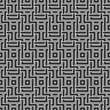 Teste padrão sem emenda monocromático com elementos geométricos Imagens de Stock