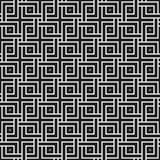 Teste padrão sem emenda monocromático com elementos geométricos Foto de Stock Royalty Free