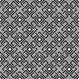 Teste padrão sem emenda monocromático com elementos geométricos Imagens de Stock Royalty Free