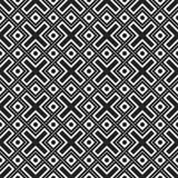 Teste padrão sem emenda monocromático com elementos geométricos Fotografia de Stock