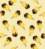 Teste padrão sem emenda mordido da vara amarela ilustração do vetor