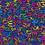 Teste padrão sem emenda multicolorido do alfabeto inglês Imagem de Stock