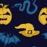 Teste padrão sem emenda não brilhante simples para o Dia das Bruxas ilustração stock