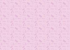 Teste padrão sem emenda na linha ícone do estilo com vetor resizable inteiramente editável do tema dos acessórios do bebê na cor  foto de stock royalty free