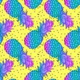Teste padrão sem emenda na moda criativo do abacaxi Imagens de Stock Royalty Free