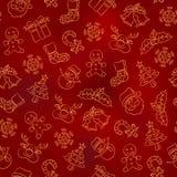 Teste padrão sem emenda - Natal Fotos de Stock