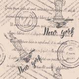 Teste padrão sem emenda New York Ilustração Royalty Free