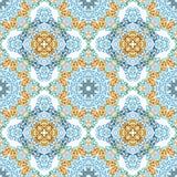 Teste padrão sem emenda no estilo étnico do mosaico. Fotografia de Stock