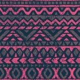 Teste padrão sem emenda no estilo étnico e tribal Textura suja han Fotos de Stock Royalty Free