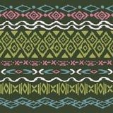 Teste padrão sem emenda no estilo asteca ilustração royalty free