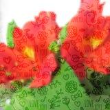Teste padrão sem emenda no fundo Blurred com orquídea Foto de Stock