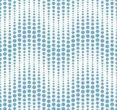 Teste padrão sem emenda no fundo branco Tem a forma de uma onda Consiste em elementos geométricos no azul Fotografia de Stock Royalty Free