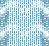 Teste padrão sem emenda no fundo branco Tem a forma de uma onda Consiste em elementos geométricos no azul Foto de Stock Royalty Free