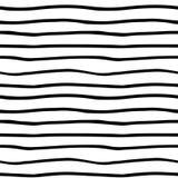 Teste padrão sem emenda orgânico tirado mão do vetor O preto rabisca o esboço no fundo branco Imagens de Stock Royalty Free