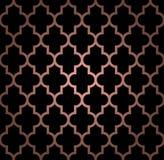 Teste padrão sem emenda oriental na cor de cobre Fotos de Stock Royalty Free