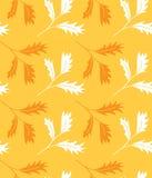 Teste padrão sem emenda ornamentado com as folhas de outono Ilustração do vetor Imagem de Stock Royalty Free