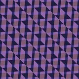 Teste padrão sem emenda Ornamento colorido dos triângulos e dos quadrados em cores roxas Foto de Stock