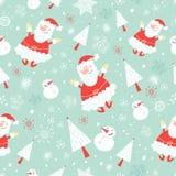 Teste padrão sem emenda Papai Noel engraçado ilustração stock