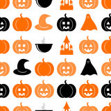 Teste padrão sem emenda para Halloween Imagens de Stock