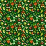 Teste padrão sem emenda para o dia de Patricks de Saint no verde ilustração do vetor