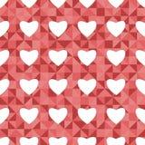 Teste padrão sem emenda para o dia de Valentim Imagem de Stock