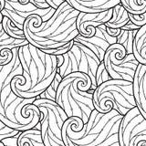 Teste padrão sem emenda para o livro para colorir Foto de Stock Royalty Free
