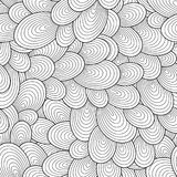 Teste padrão sem emenda para o livro para colorir Fotografia de Stock Royalty Free