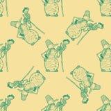 Teste padrão sem emenda para o projeto de matéria têxtil da cópia ou o envolvimento de papel Fotografia de Stock Royalty Free
