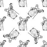 Teste padrão sem emenda para o projeto de matéria têxtil da cópia ou o envolvimento de papel Doodles do Feliz Natal Foto de Stock